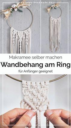 Yarn Wall Art, Diy Wall Art, Diy Casa, Mirror Crafts, Macrame Design, Diy Rings, Macrame Projects, Boho Diy, Macrame Patterns