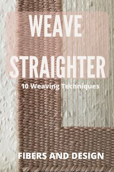 Learn how to keep weaving sides straight while weaving. Keeping weaving selvedges straight can be tricky, but with practice you can do it! Weaving Loom Diy, Weaving Art, Hand Weaving, Finger Weaving, Tablet Weaving, Paper Weaving, Weaving Designs, Weaving Projects, Weaving Patterns