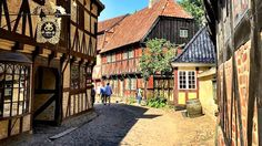 Den Gamle By in Aarhus in Denmark is a large family-friendly open-air museum with typical historic old town buildings from the to the Aarhus, Night At The Museum, Old Town, Denmark, Old Things, Cabin, Country, House Styles, Travel