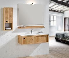 Lyck bathroom furniture, made of distressed wood