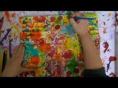 ▶ Mixed Media Canvas Buddha by Daniela Schoch - YouTube