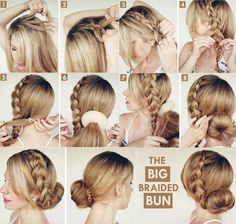 The BIG Braided BUN - Tutorial