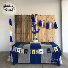 Baby Shower Boho, Baby Boy Shower, Baby Shower Decorations For Boys, Boy Baby Shower Themes, Baby Shower Marinero, 2nd Baby Showers, Baby Boy Pictures, Baby Shawer, Nautical Party