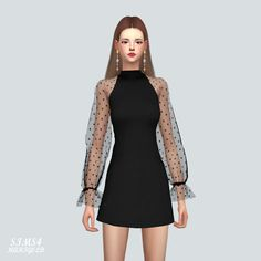 Sims 4 CC's - The Best: See-Through Lovely Dress by Marigold