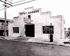 Depot Garage, Ford dealership in South San Francisco, Auto Dealerships, Car Delivery, Car Lots, Man Cave Furniture, New Car Smell, Detroit History, South San Francisco, Old Garage, Gas Station