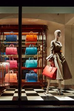 Harrods Handbag Narratives window displays