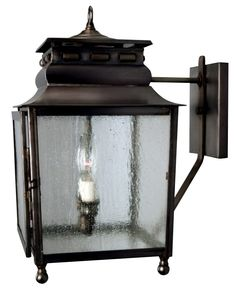 Jackson New Orleans Copper Lantern Wall Light with Bracket