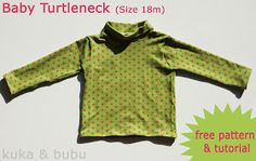 kuka and bubu: Tutorial & free pattern: Turtleneck for babies - Cuello alto para bebés