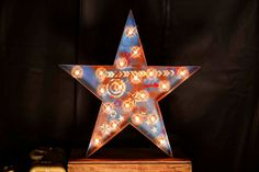 Americana Star Marquee Star Marquee Letter by TLNFunctionalArt