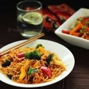 Hot and Spicy Noodles with Veggies - This top ranked Asian noodles recipe is hot and spicy, and perfect for dinner.