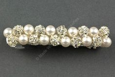 Pearl & Diamante Barrette- Bridal Hair Clip - Hair Accessories- Bridal Hair Accessories by Makewithlovecrafts on Etsy