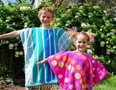 Cute Summer gift - swim robes made out of beach towels.