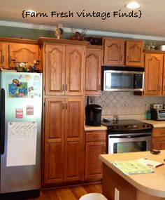 How to Paint Kitchen Cabinets with Chalk paint.
