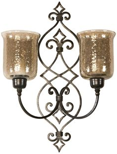 Uttermost Sorel Double Candle Wall Sconce -