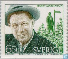 Nobel Laureates in Literature (Harry Martinson) Nobel Prize Winners, Stamp Collecting, Postage Stamps, Literature, Authors, Medicine, Technology, Album, Music