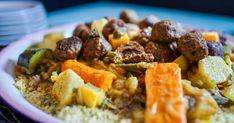 Découvrez cette recette de Couscous aux légumes pour 4 personnes, vous adorerez! Pot Roast, Quinoa, Ham, Food And Drink, Pork, Ethnic Recipes, Sweet, Food La, French