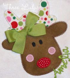Christmas Shirt Christmas Applique Shirt Reindeer by threelulus, $28.00