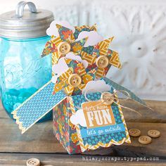 Sizzix Tutorial | Let's Have Fun Box Card by Hilary Kanwischer