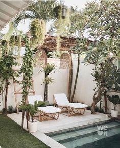 Small Backyard Pools, Backyard Patio, Outdoor Spaces, Outdoor Living, Outdoor Decor, Backyard Renovations, Cool Swimming Pools, Backyard Projects, Exterior Design
