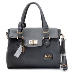 Coach Legacy Leather Turnlock Medium Tote Grey [Coach-0714] - $57.47 : Coach Outlet Canada Online