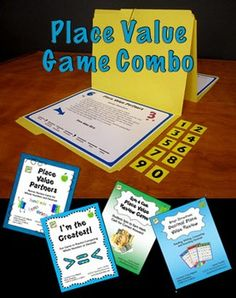 Place Value Game Combo (4th and 5th Grade CCSS) from Laura Candler includes Place Value Partners, I'm the Greatest, Spin 4 Cash Place Value Game, and Bingo Showdown Decimal Review. Save when you purchase as a combo. $ #LauraCandler