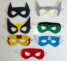 DIY felt superhero masks and princess crowns