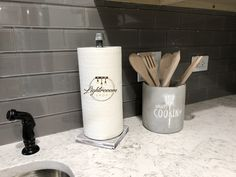 Paper Towel Holder, Whitewash Wood, Paper Stand, Towel Holder, Steel Pipe, Towel Dispenser, Pipe, Kitchen Organizer, Bathroom Towel Stand Paper Towel Rolls, Paper Towel Holder, Towel Holder Stand, Paper Stand, Home Storage Solutions, Black Pipe, Whitewash Wood, Household Cleaners, Bathroom Towels
