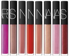 NARS Lip Gloss Reformulating for 2014 - Easy Lover – Belize – Chihuahua – Eternal Red – Giza – Greek Holiday – Istria – Misbehave