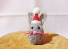 Love...Needle Felted Christmas Rabbit  Christmas Ornament  by feltindevon, £6.00