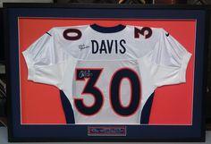 Custom framed Terrell Davis Denver Broncos jersey. Custom framed by  FastFrame of LoDo. Denver 9e0b1543b