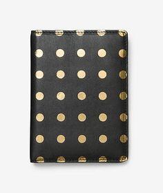 Passport Case in Gold Dot