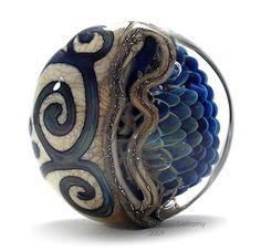 Sherry Bellamy -Tuscan Chaos Focal Bead - lampwork glass