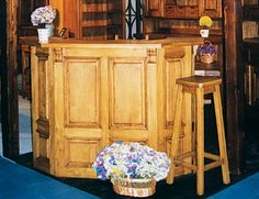 vinoteca - bar Castle mobila lemn masiv