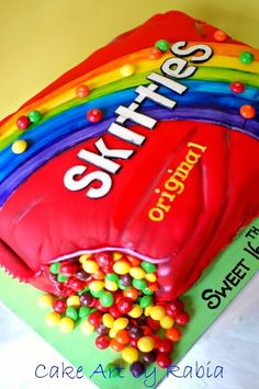 1000+ images about Baking on Pinterest Skittles Cake ...