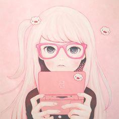 gamer girl kaoru hasegawa manga pink school sweet cute kawaii