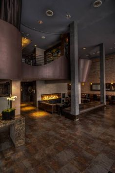 Fireplace Los Angeles  We love hotels that respect their Built in the O Hotel in Downtown Los Angeles is with a bit of flair! We can't wait to stay here next time we're in town!