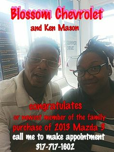 From Blossom Chevrolet and Ken Mason
