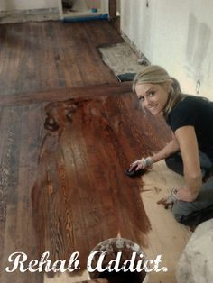 Rehab Addict's Nicole Curtis, seriously she is my idol I would LOVEEE to work on houses with her, we have the same exact style, love this show! <3