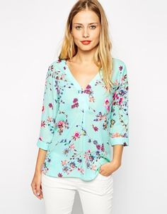 Enlarge Warehouse Floral Print Blouse
