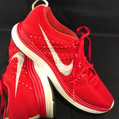 info for 9a47e 534c6 Nike Shoes   Bright Red Nike Flyknit Lunar 1 Womens 8.5 40 Eur   Color   Red White   Size  8.5
