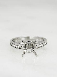 Elisabeth Cathedral Vintage Engagement Ring