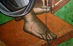 Ножки Byzantine Art, Art Icon, Painting Process, Orthodox Icons, Sacred Art, Christian Art, Fresco, Style Icons, Techno