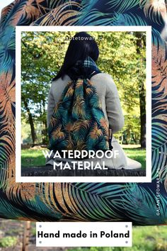 Product designed and sewn in Poland. Waterproof Backpack, Poland, Backpacks, Sewing, How To Make, Handmade, Collection, Couture, Sew
