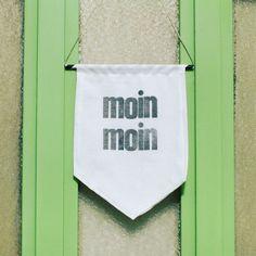 """DIY Türwimpel """"Moin Moin"""" - ein hanseatischer Willkommensgruß. Freebie mit Letterpress-Print und no-sew Option für ein schnelles und schönes DIY-Ergebnis."""