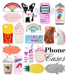 """Silicone Phone Cases"" by miss-t-swizzle ❤ liked on Polyvore featuring Valfré, Moschino, STELLA McCARTNEY, Miss Selfridge and Kate Spade"