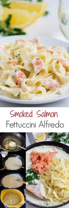Quick and easy, yet super fancy, this smoked salmon fettuccini alfredo is perfect weeknight dinner. Once you have all the ingredients on the counter, dinner will be ready in less than 20 minutes!