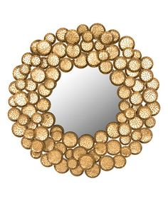 Antique Gold Honey Mushroom Mirror #zulily #zulilyfinds