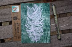 "Postcard Set - ""Free Spirit"" Whimsical, Bohemian, Adventurous Greeting Cards - Green Bird Feather Blank Notecards Set by littleatlascreations on Etsy https://www.etsy.com/listing/557108332/postcard-set-free-spirit-whimsical"