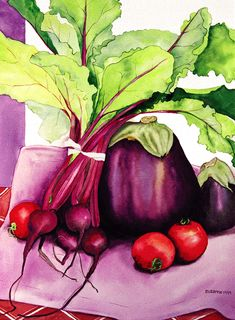 Suzanne Hull Wilson Fruit  Vegetable Watercolors