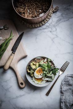 Local Milk   farro avocado breakfast bowl + sumac miso vinaigrette